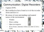 communication digital recorders