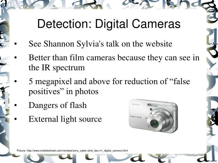 Detection: Digital Cameras