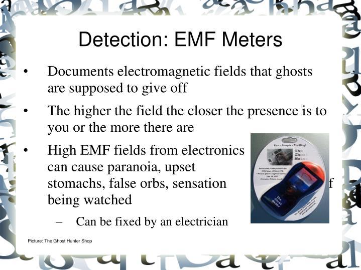 Detection: EMF Meters