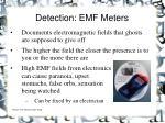 detection emf meters