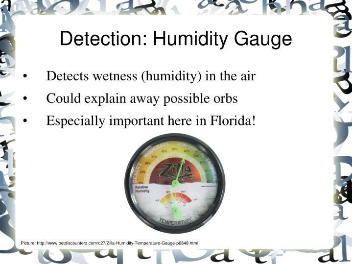 Detection: Humidity Gauge
