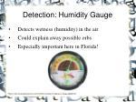 detection humidity gauge