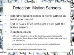 detection motion sensors