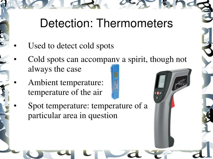 Detection: Thermometers