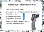 detection thermometers