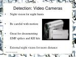 detection video cameras