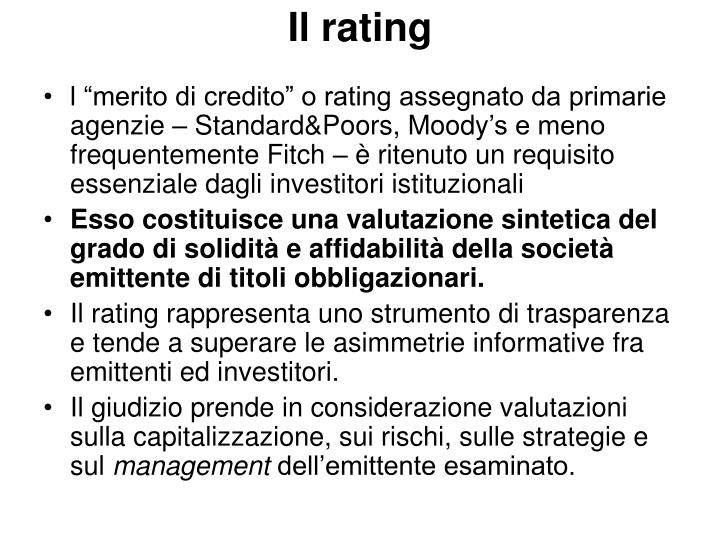 Il rating