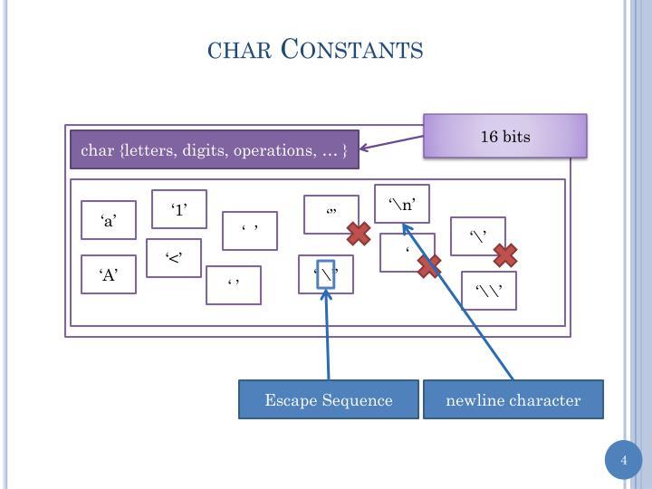 char Constants