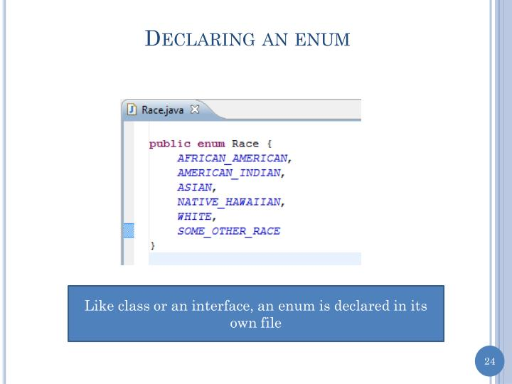 Declaring an