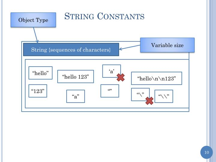 String Constants