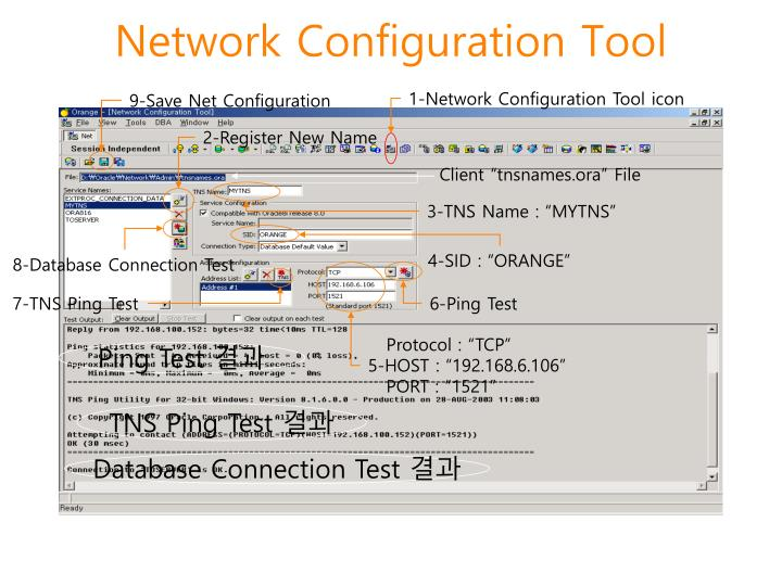 Network configuration tool