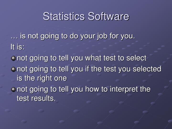 Statistics Software