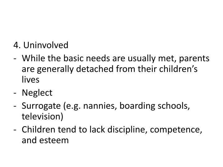 4. Uninvolved