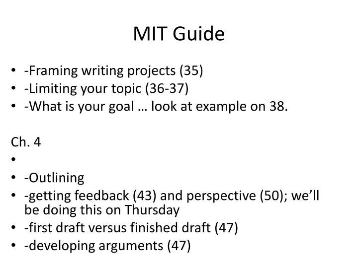 MIT Guide