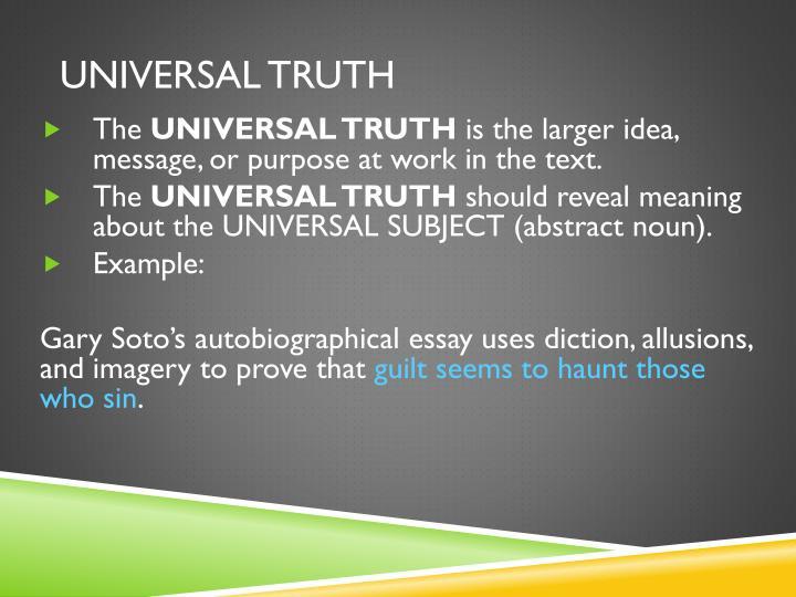 UNIVERSAL TRUTH