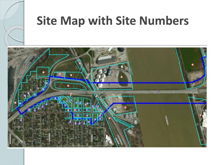 Site Map with Site Numbers