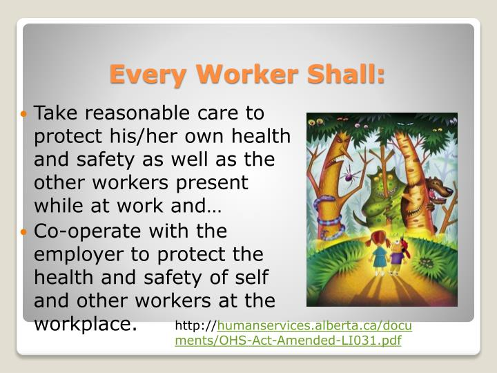 Take reasonable care to protect his/her own health and safety as well as the other workers present while at work and…