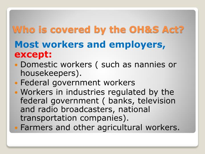 Most workers and employers,
