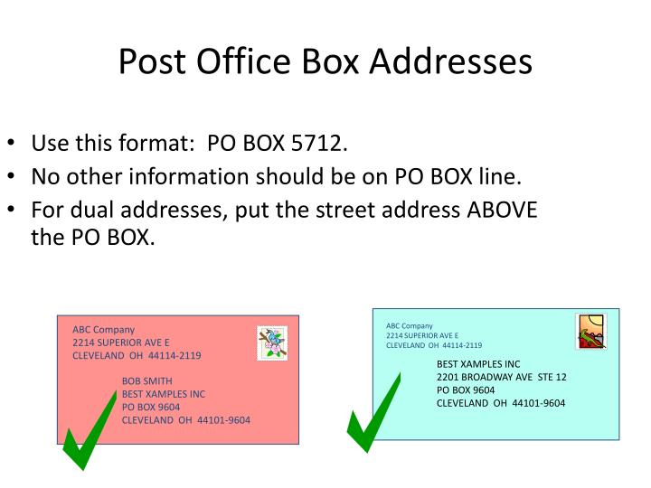 Use this format:  PO BOX 5712.