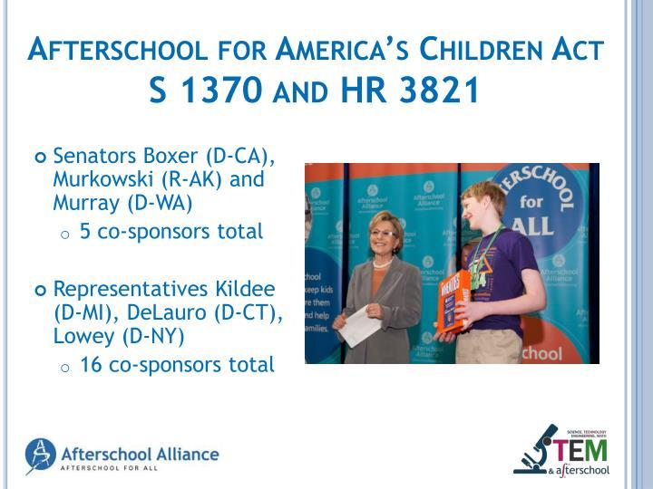 Afterschool for America's Children Act