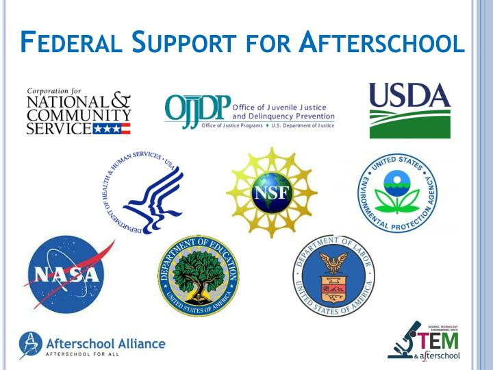 Federal Support for Afterschool