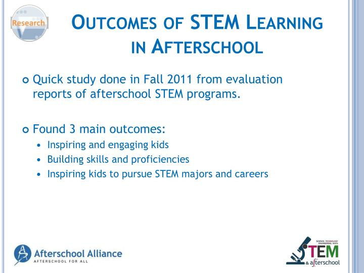 Outcomes of STEM Learning