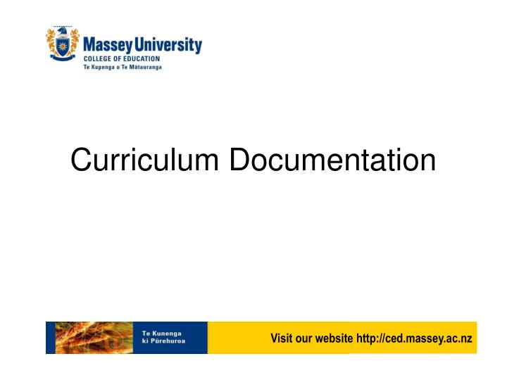 Curriculum documentation
