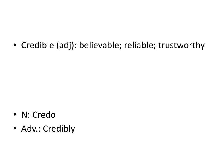 Credible (