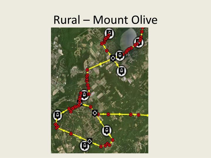 Rural – Mount Olive