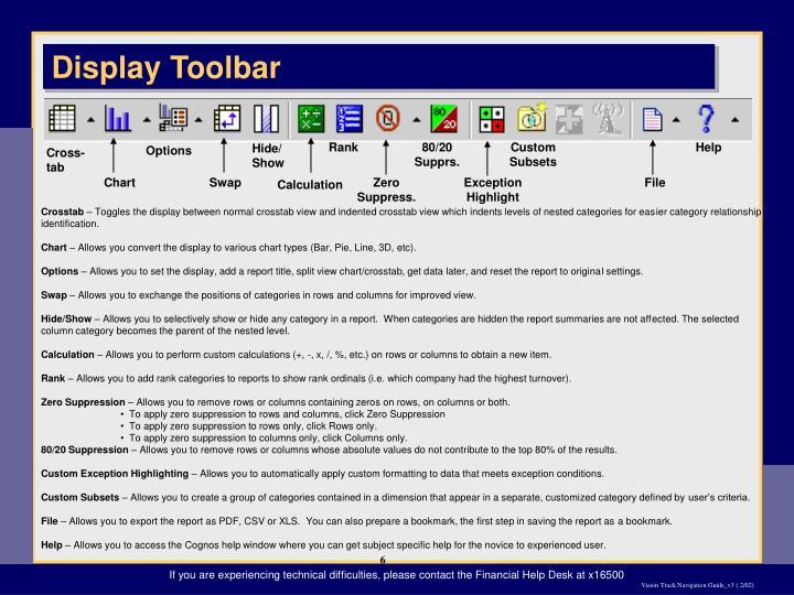 Display Toolbar