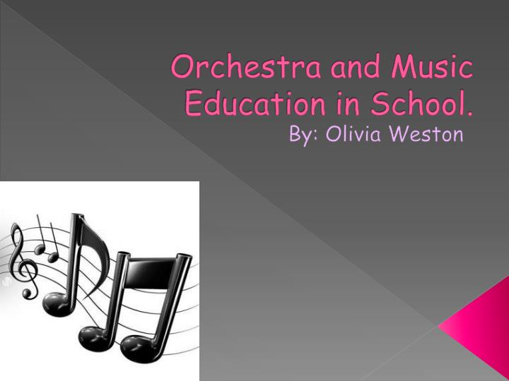 orchestra and music education in school