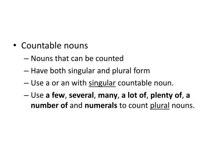 Countable nouns
