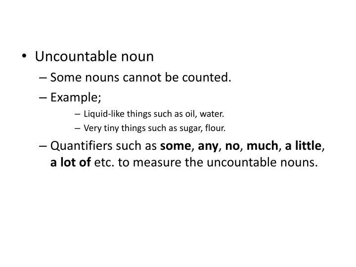Uncountable noun