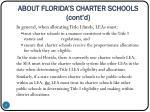 about florida s charter schools cont d