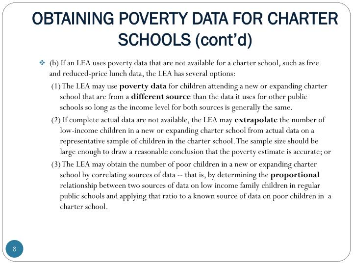 OBTAINING POVERTY DATA FOR CHARTER SCHOOLS (