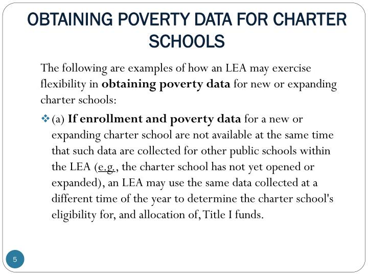 OBTAINING POVERTY DATA FOR CHARTER SCHOOLS