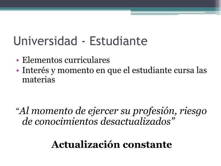 Universidad - Estudiante