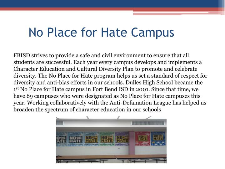 No Place for Hate Campus