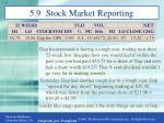5 9 stock market reporting1