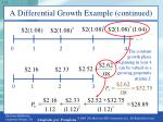 a differential growth example continued