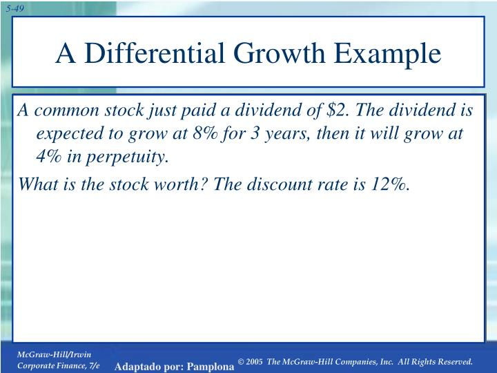 A Differential Growth Example
