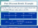 pure discount bonds example