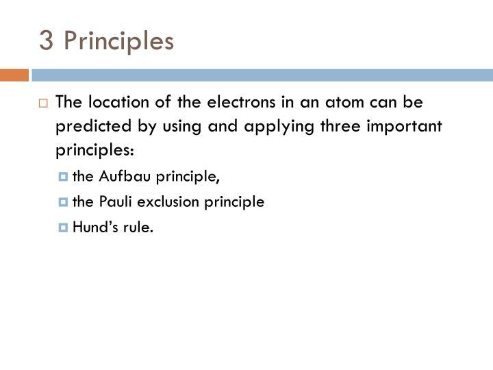 3 Principles