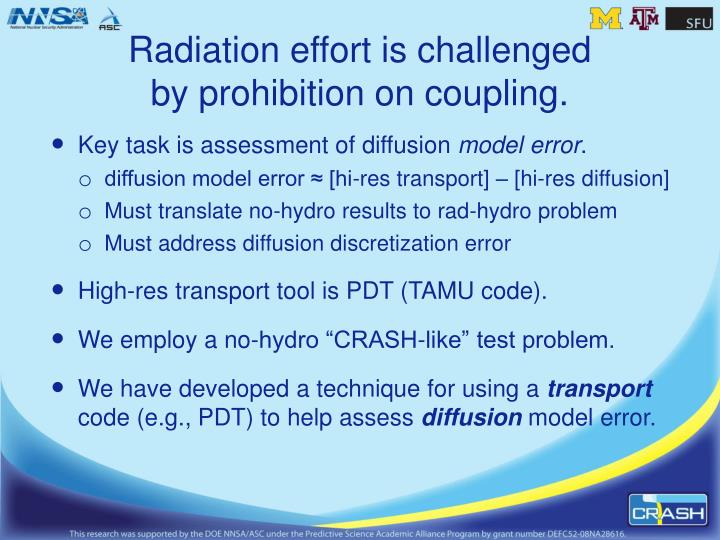 Radiation effort is challenged by prohibition on coupling