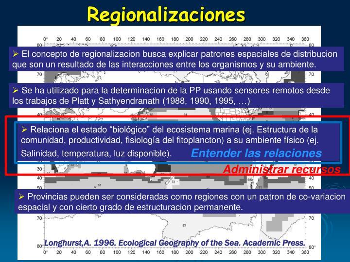 Regionalizaciones