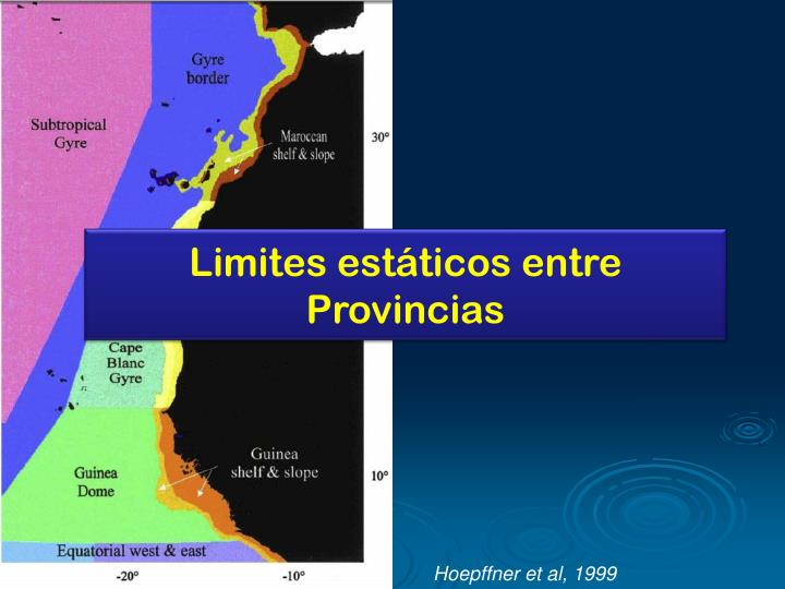 Limites estáticos entre Provincias
