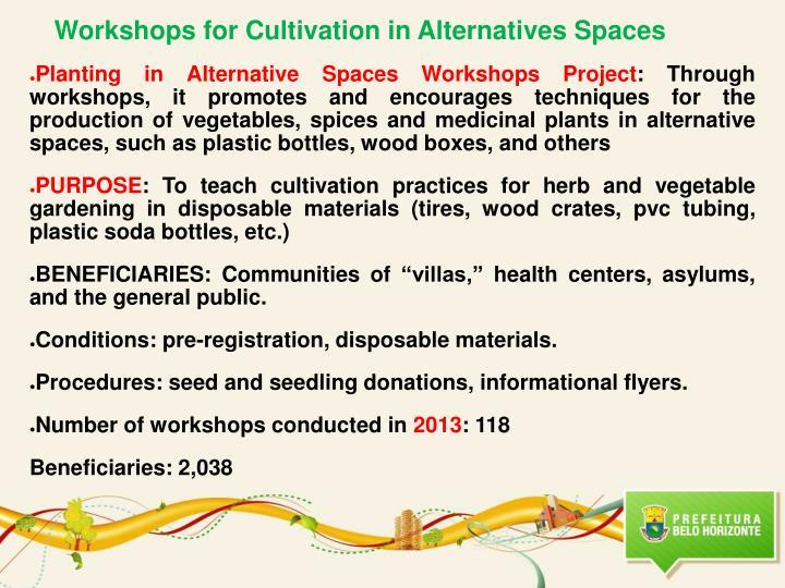 Workshops for