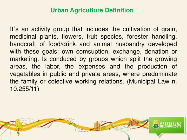 Urban Agriculture Definition