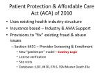 patient protection affordable care act aca of 2010