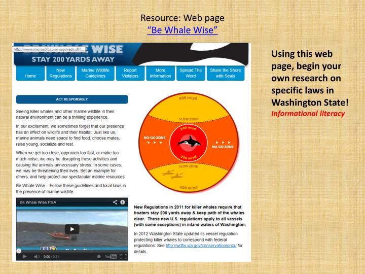 Resource: Web page